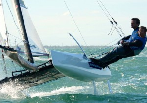 Mary & Tom at the European Championships 2014 in the Nacra 17