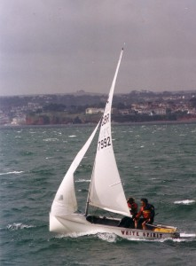 The Early Days, Mary Rook sailing and Albacore with her father Jerry.